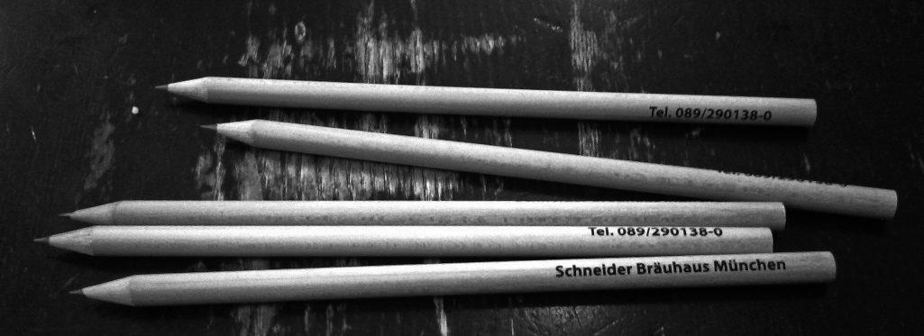 Blogparade 'Was würdet Ihr an München vermissen': Gratis-Bleistifte