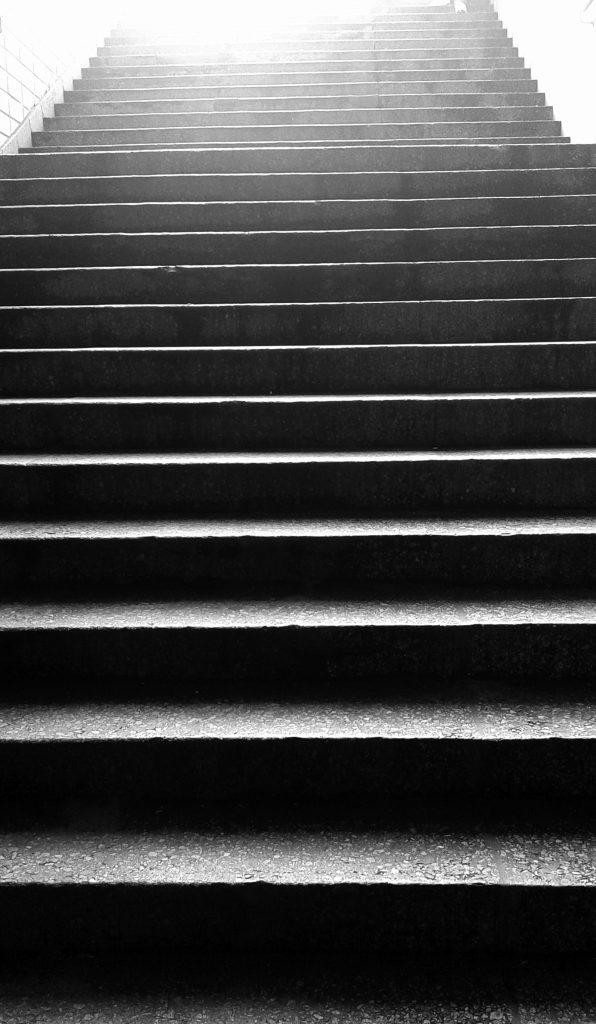 Stufen zählen. Immer