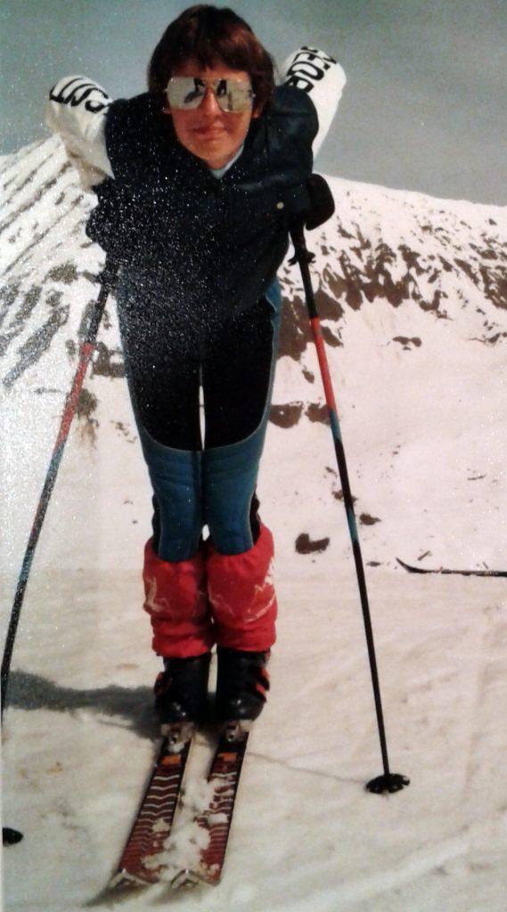 Mit 17 - auf Skiern. Mit viel Begeisterung für sich selbst