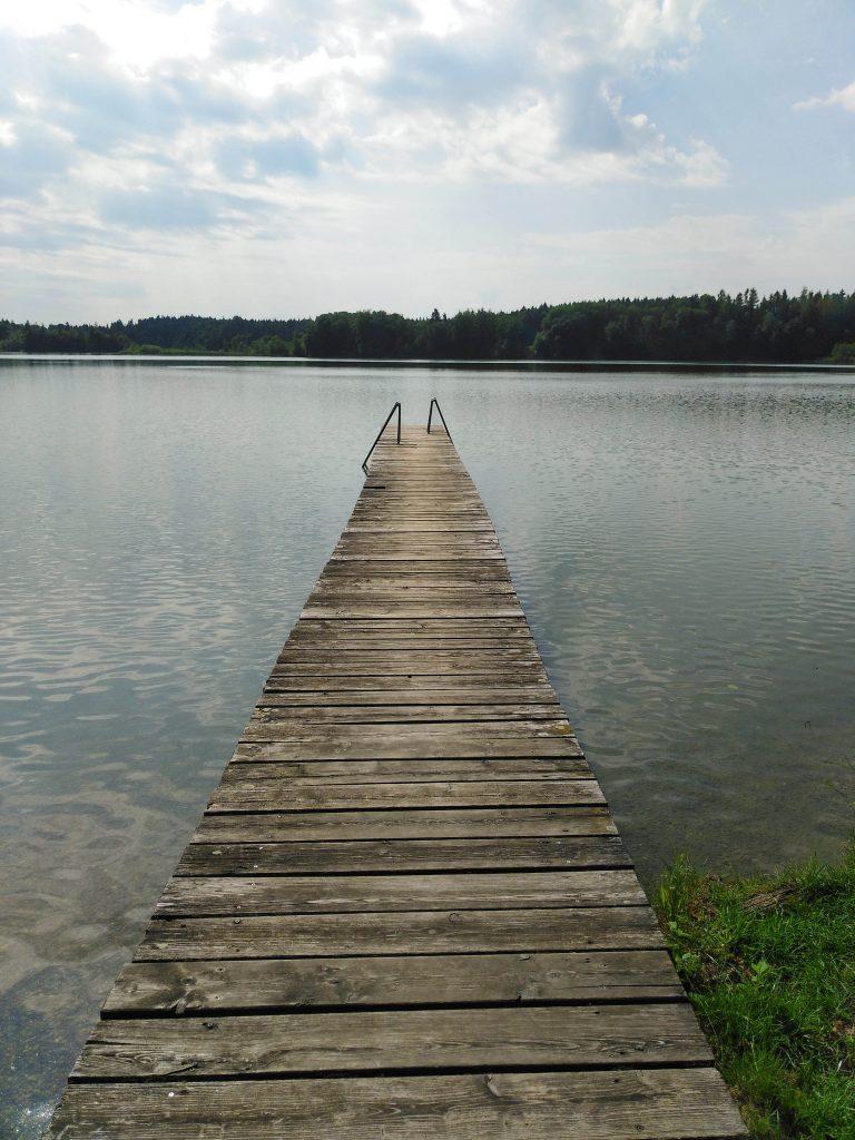 Pelhamer See, Badesteg