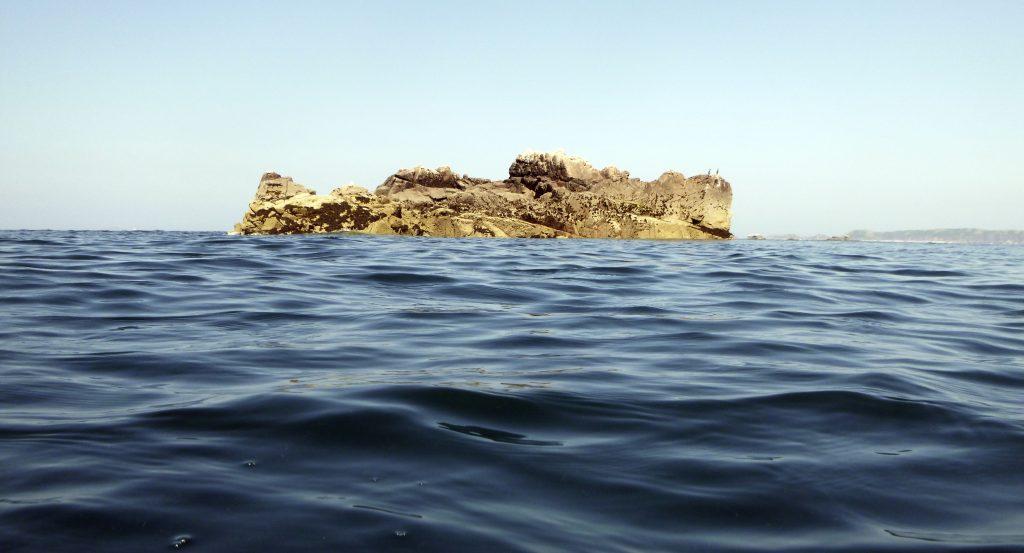 Eine kleine Insel - Ziel eines kleinen Schwimms