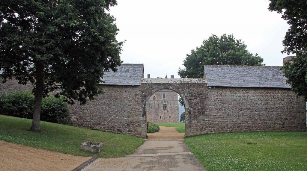 La Chateau la Roche Jagu - für eine Sekunde kein Mensch wwit und breit