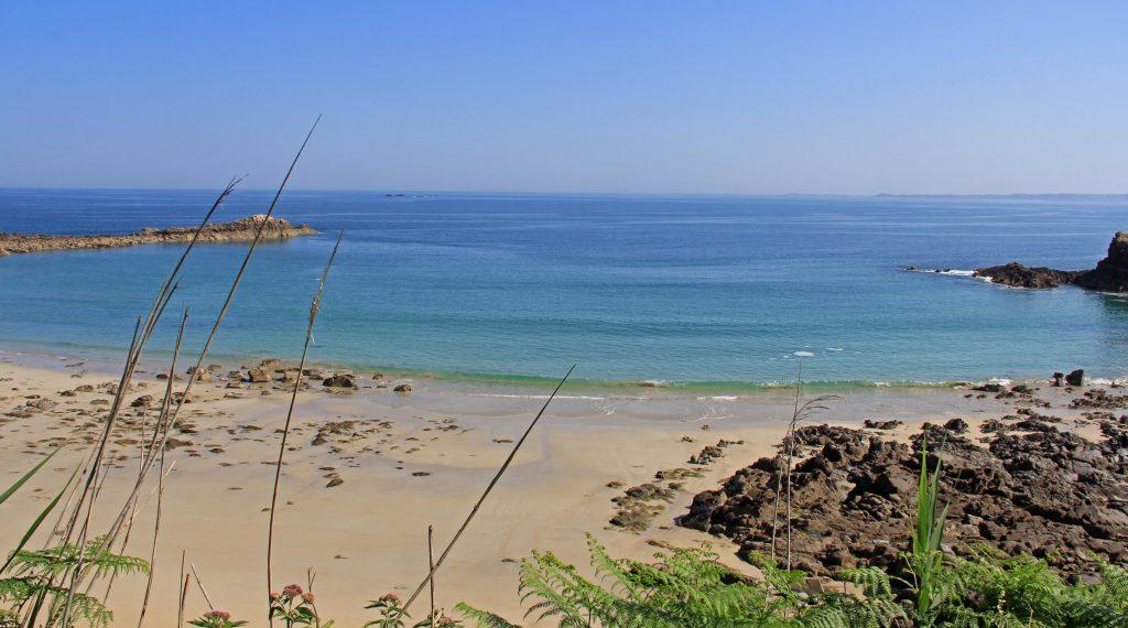 Eine Küste wie in den Tropen - zumindest an diesem Tag