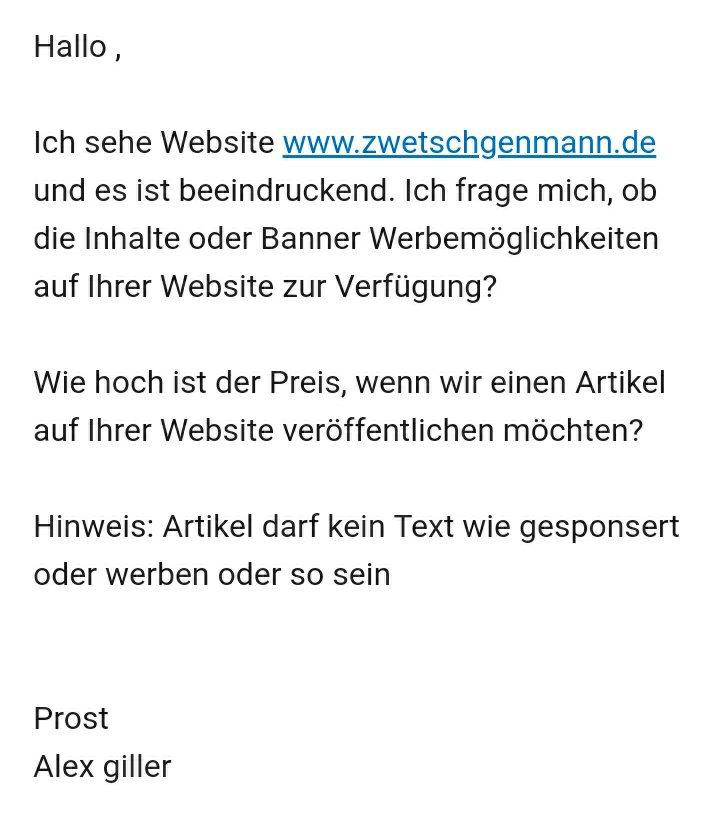 Ein Angebot von Alex - Prost