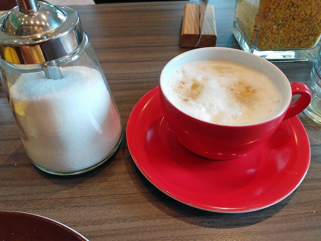 Ein Cappuccino in Speyer - für mich. Nicht für Harald