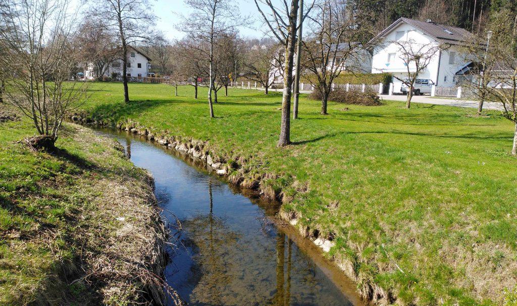 Auf dem Jakobsweg - Das Flüsschen Goldach