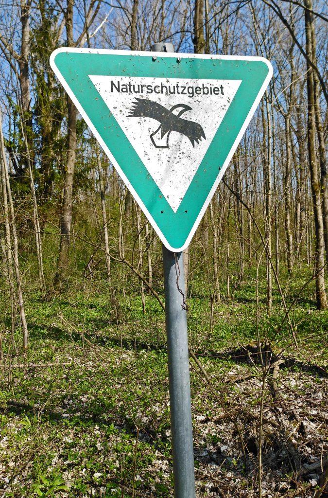 Hinweis: Naturschutzgebiet an der Isar