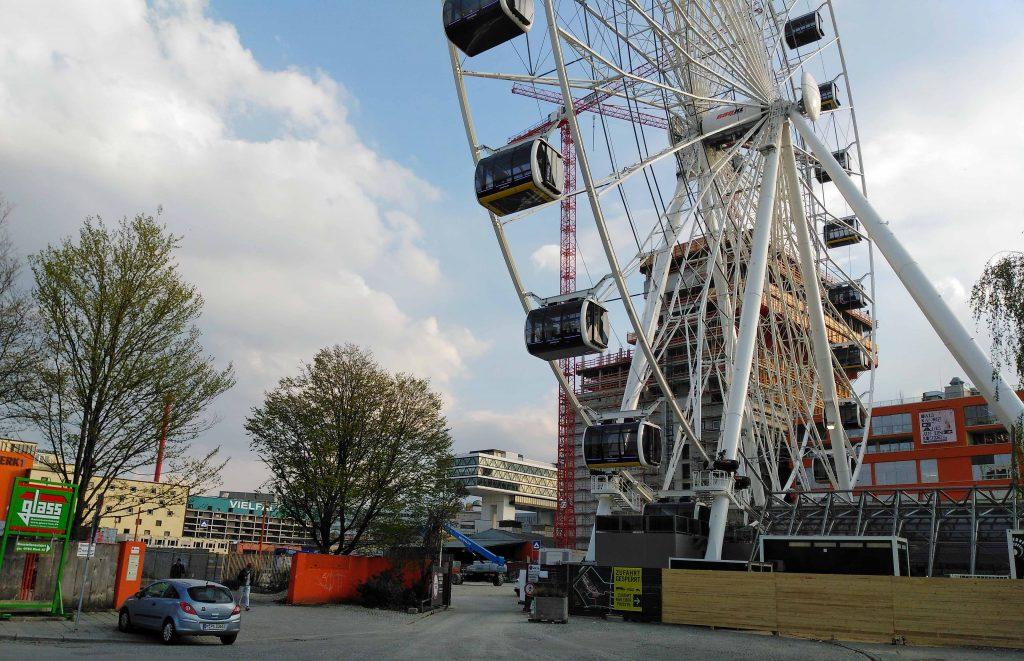 Im Werksviertel die neue Attraktion. Das Riesenrad