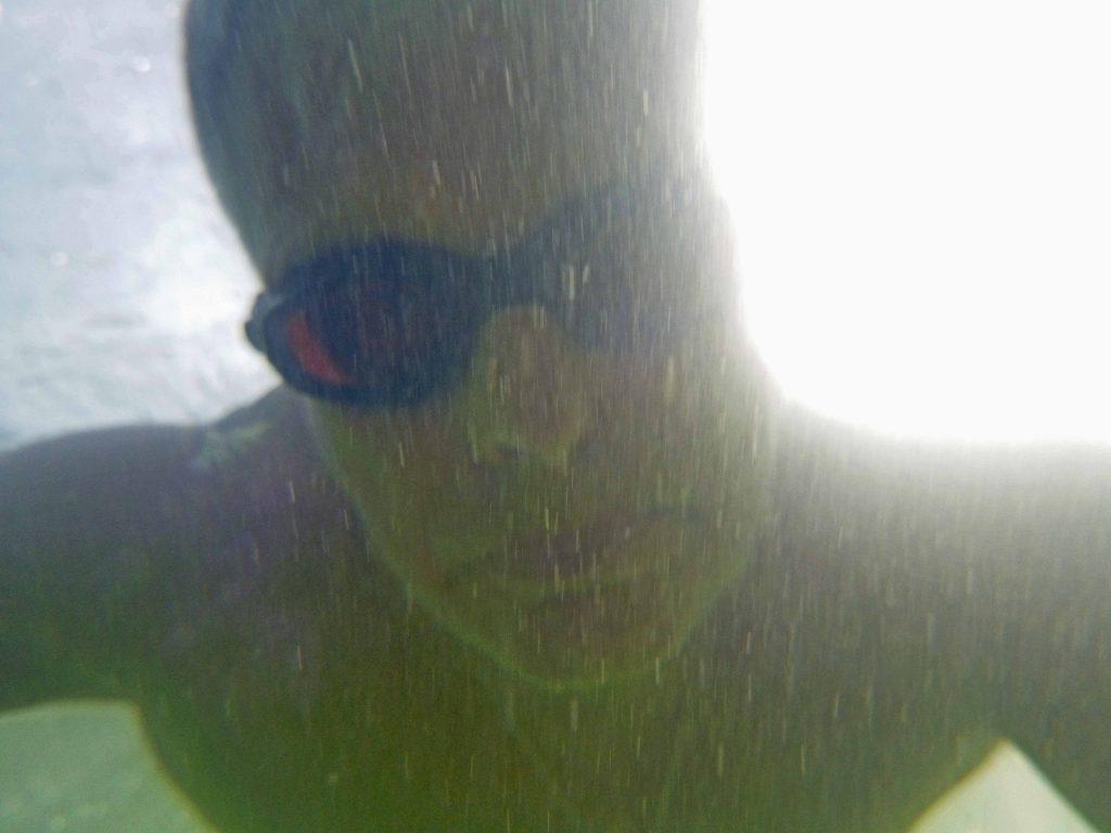 In der Alz - unter Wasser