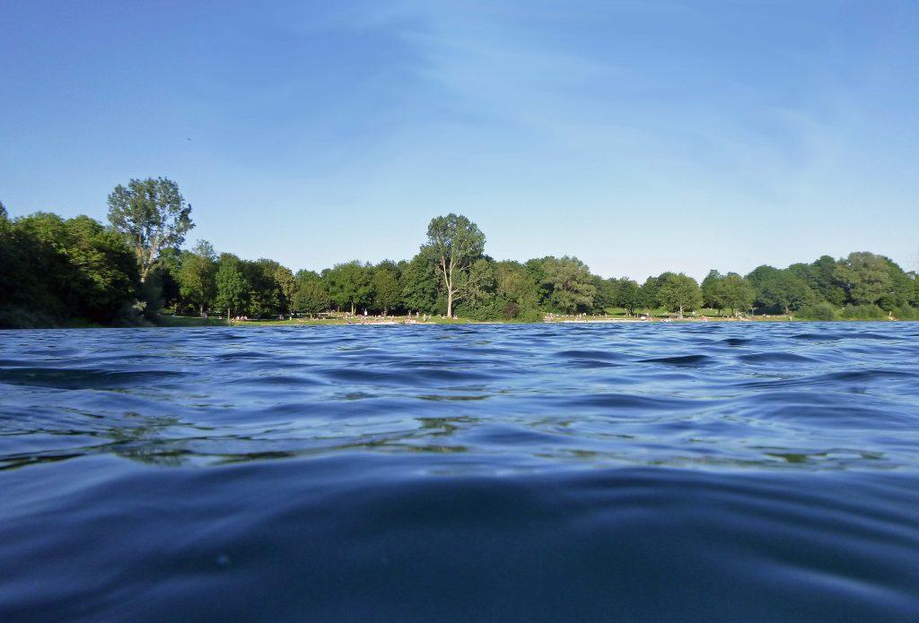 Echinger See - in der Ferne der Badestrand