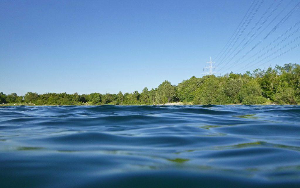 Echinger See - im Wasser