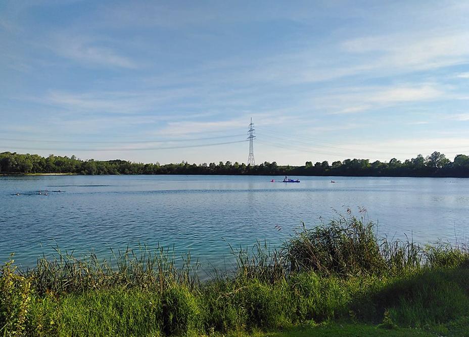 Echinger See - von Norden nach Süden