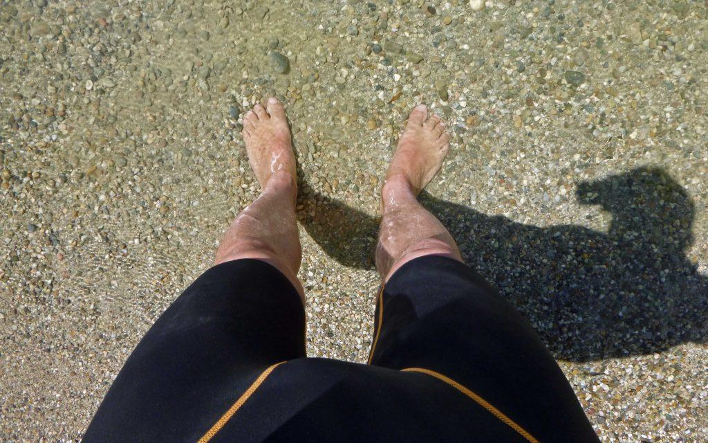 Füße im Wasser - meine Füße