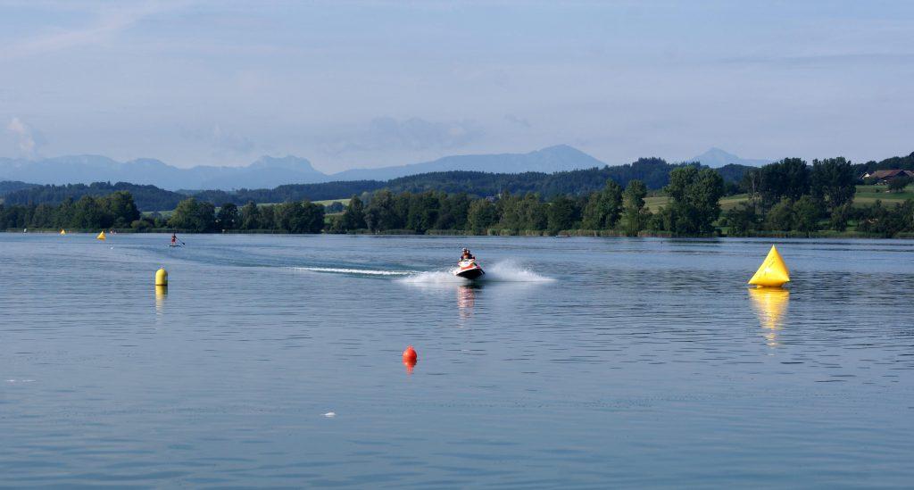 Volksschwimmen Tachinger See: Streckenkontrolle