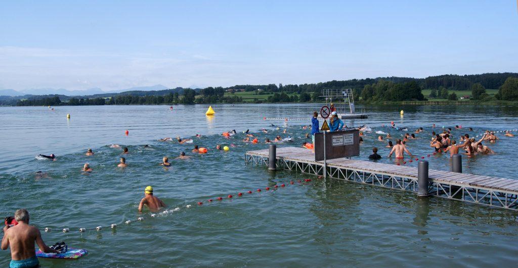 Volksschwimmen Tachinger See: Start