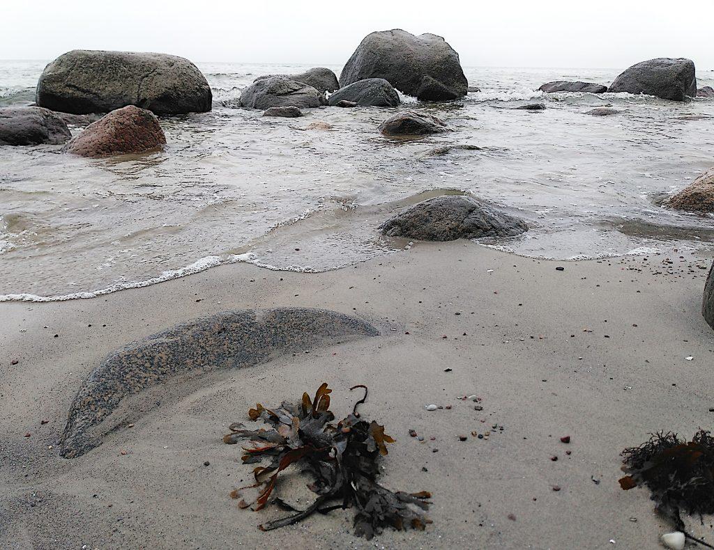 Steine, Sand, Meer. Ostsee im Herbst