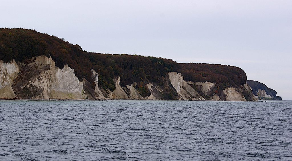 Kreide an der Küste Rügens - vom Meer aus